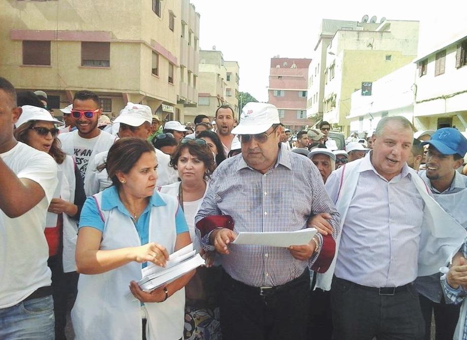 Driss Lachguar préside la marche de Yacoub El Mansour