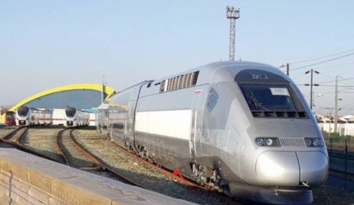 Arrivée du 2ème train à grande vitesse