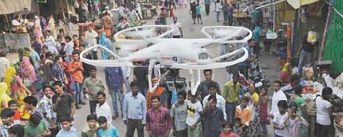 Insolite : Des drones à gaz lacrymogène