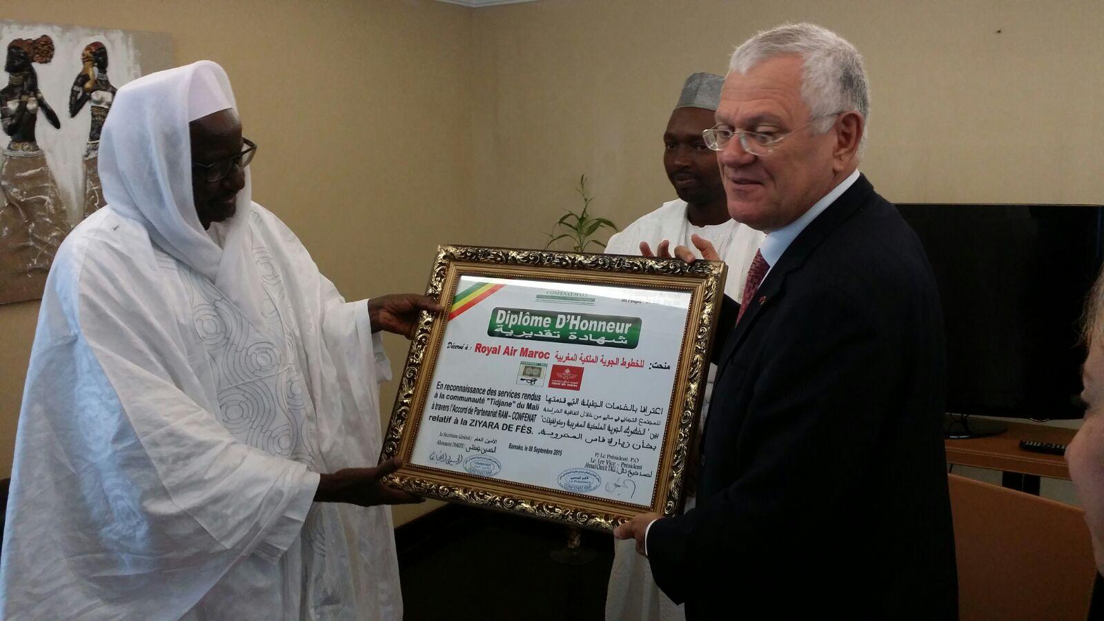 Royal Air Maroc  signe une convention pour faciliter le transport des Tidjanes du Mali