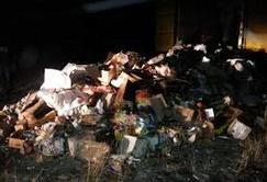 Destruction de produits alimentaires impropres à la consommation à Salé