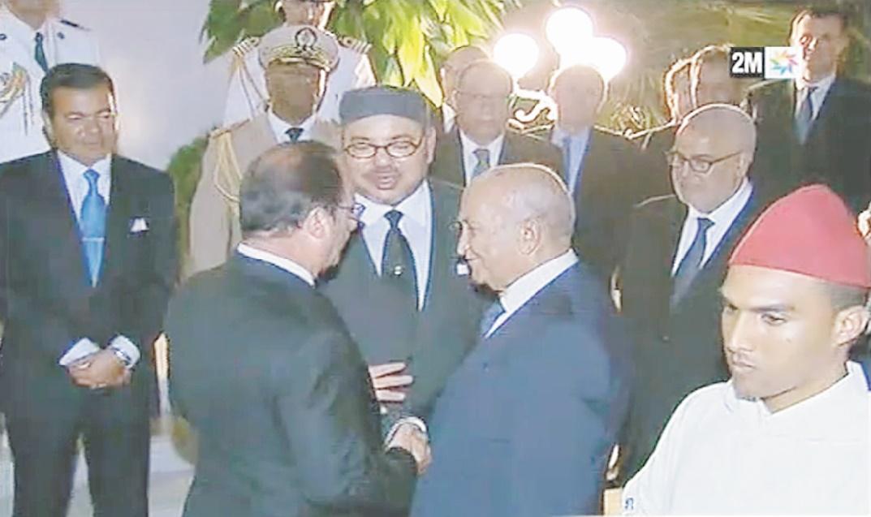 Le Président de la République française à l'issue de son séjour au Royaume