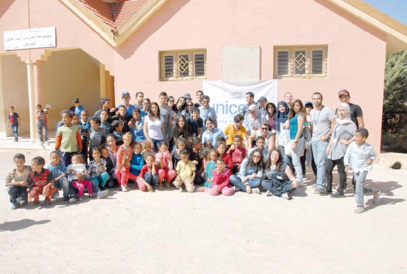 UNICEF- Akhawayn apporte son soutien à la communauté rurale d'Aït Ghanem-Timhdit