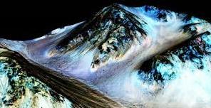 De l'eau salée liquide sur Mars