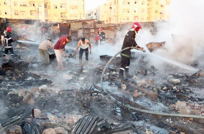 Un incendie ravage plus de 36 baraques dans un souk populaire à Sidi Moumen