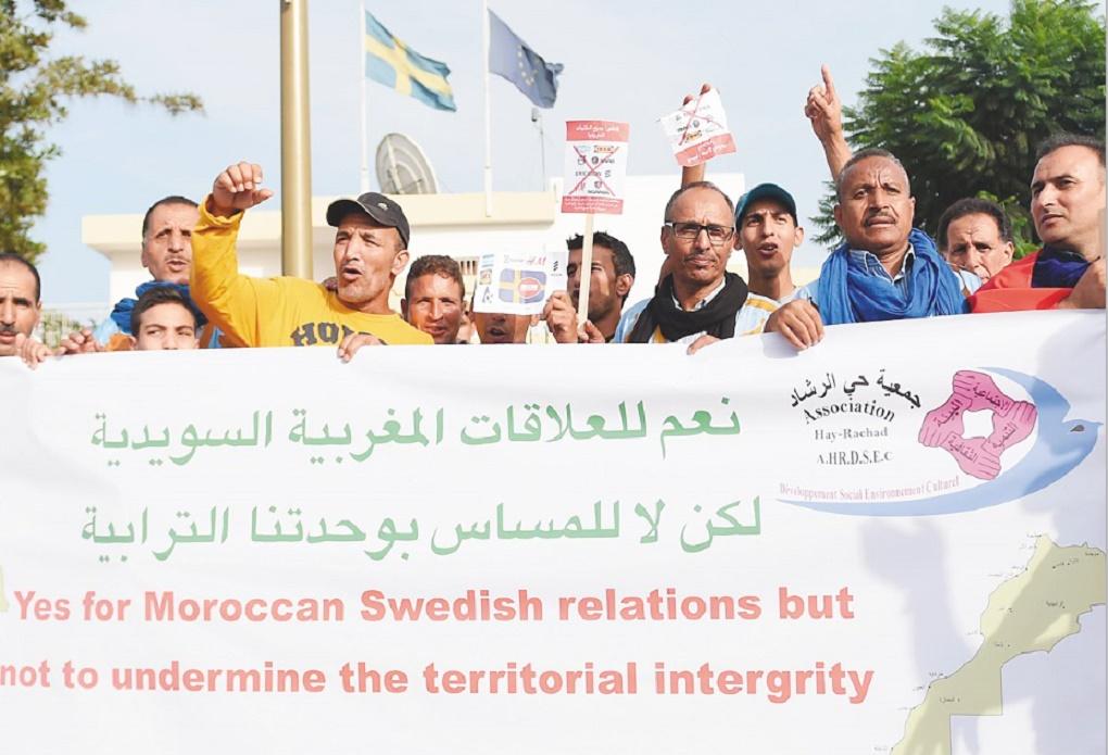 A Rabat, plusieurs milliers de Marocains manifestent contre l'ingérence suédoise