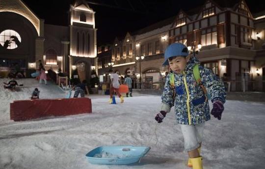 La neige, comble de l'exotisme en Thaïlande