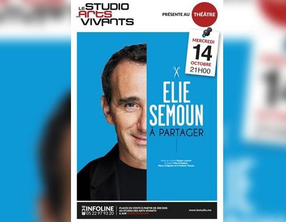 Elie Semoun présente son dernier one man show à Casablanca