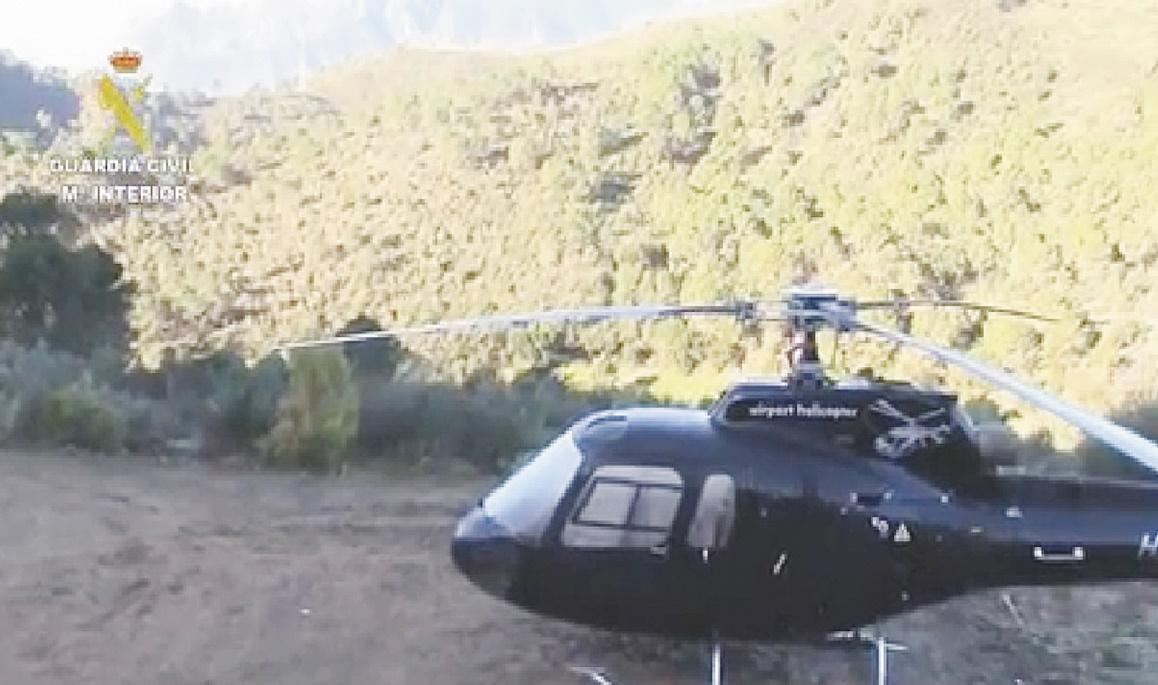 Trafic de drogue par hélicoptère entre le Maroc et l'Espagne