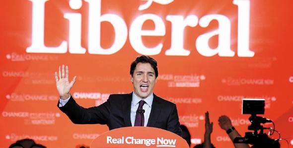 Ecrasante victoire du Parti libéral de Justin Trudeau aux législatives du Canada