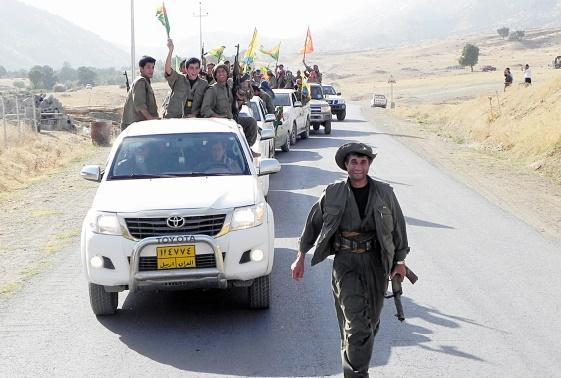 Les forces kurdes irakiennes pénètrent dans Sinjar aux mains des jihadistes