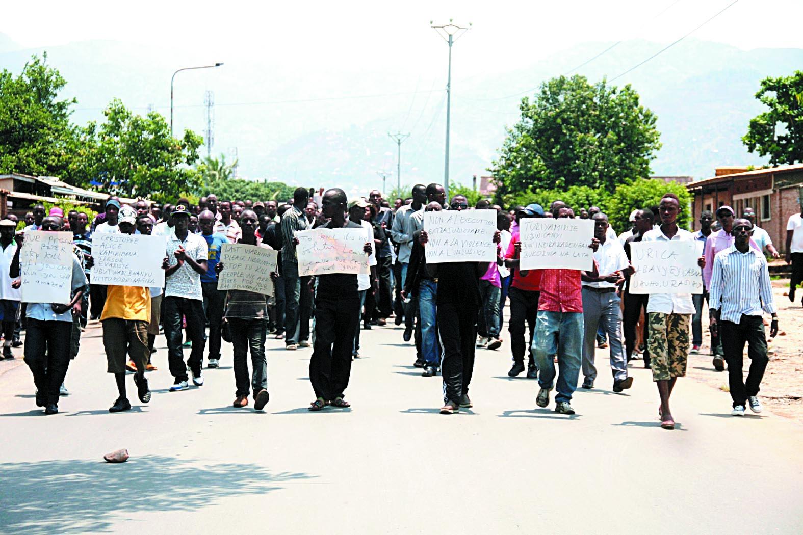 Six morts dans une longue nuit de violences à Bujumbura