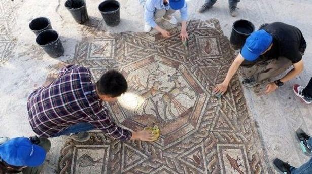 Une remarquable mosaïque vieille de 1700 ans dévoilée en Israël