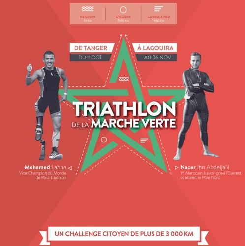 Le plus long triathlon du monde ranime la flamme de la Marche Verte