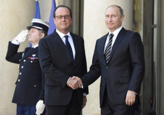 Hollande rencontre  Poutine à Moscou