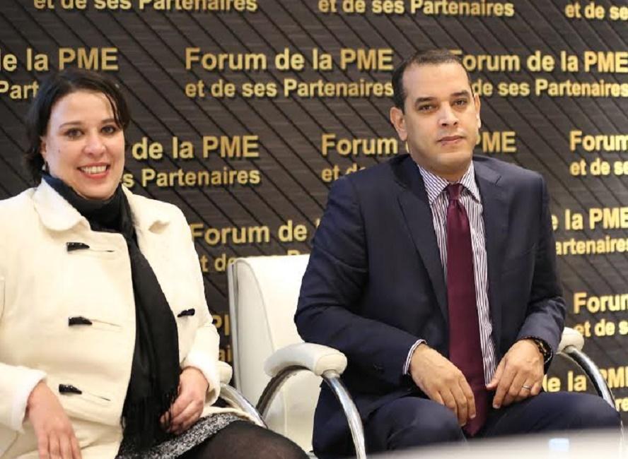 Asmaa Ayoub, la directrice du Salon et Abdellah Chater, Directeur du CRI du Grand Casablanca.