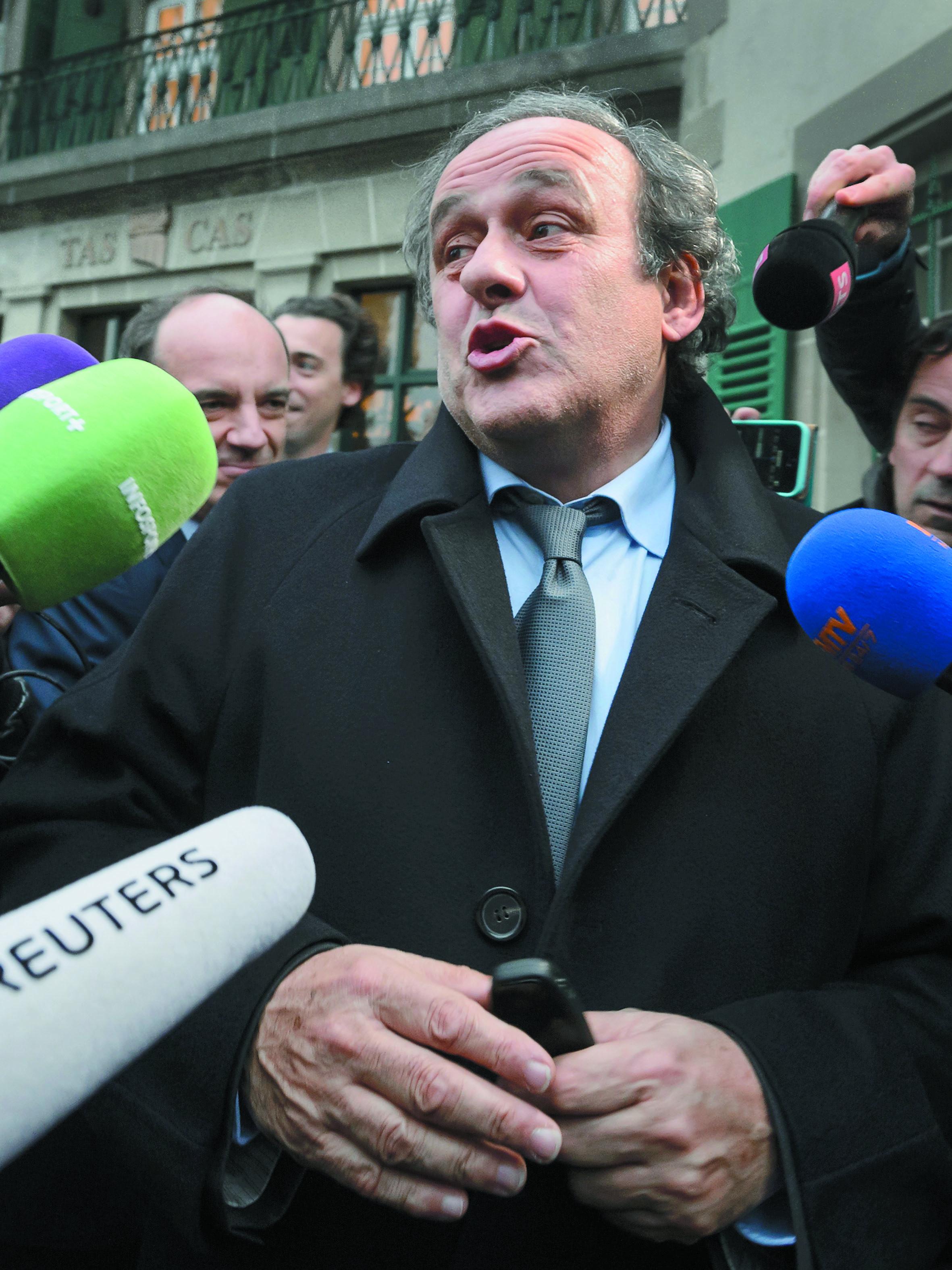 Le TAS maintient la  suspension de Platini