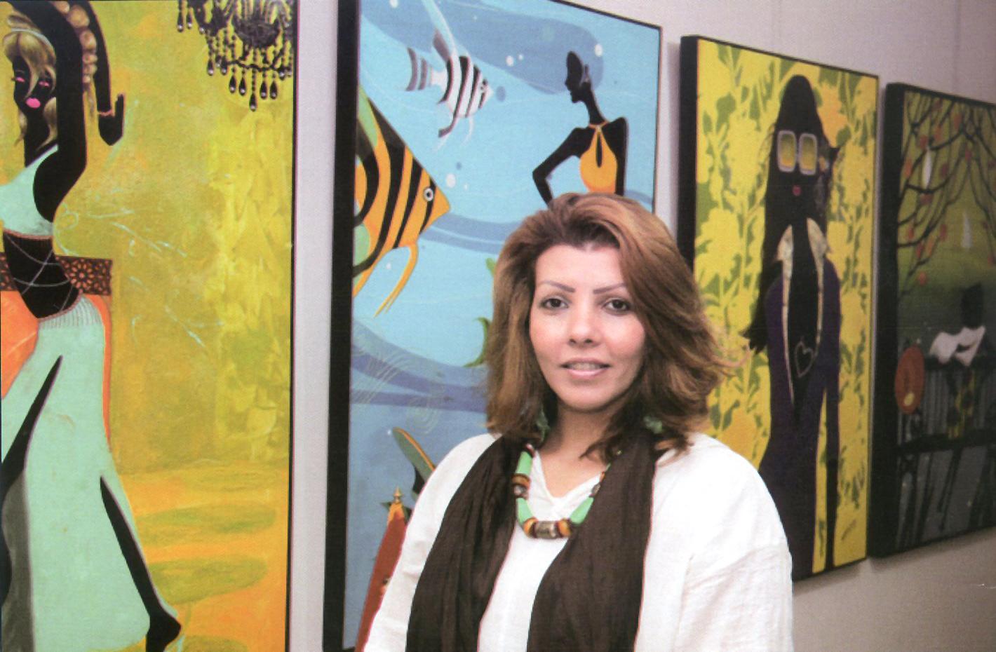 L'artiste peintre Soumia Drissi Alami expose à l'américaine