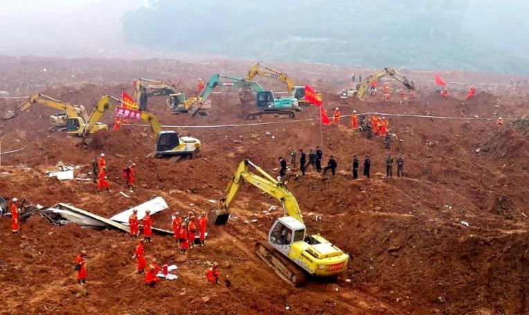 91 disparus dans un énorme glissement de terrain en Chine