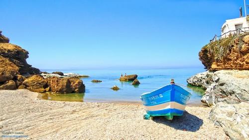 «Cap des trois fourches», à 25km au nord de Nador, un vaste promontoire montagneux de l'Afrique du Nord qui s'avance d'une vingtaine de kilomètres dans la mer Méditerranée.