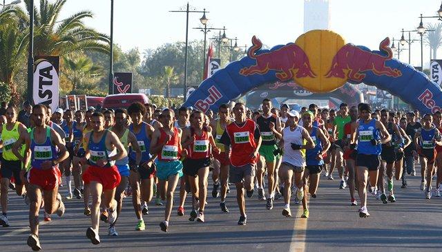 Participation de plus de 7000 athlètes au Marathon international de Marrakech