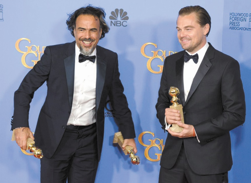"""The Revenant""  et Leonardo DiCaprio au sommet des  Golden Globes"