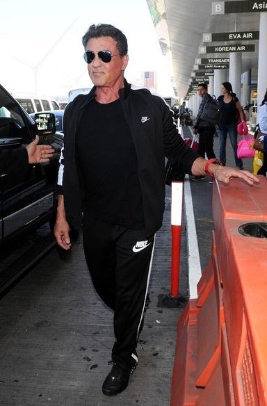 Scandales de stars à l'aéroport : Sylvester Stallone, mars 2007
