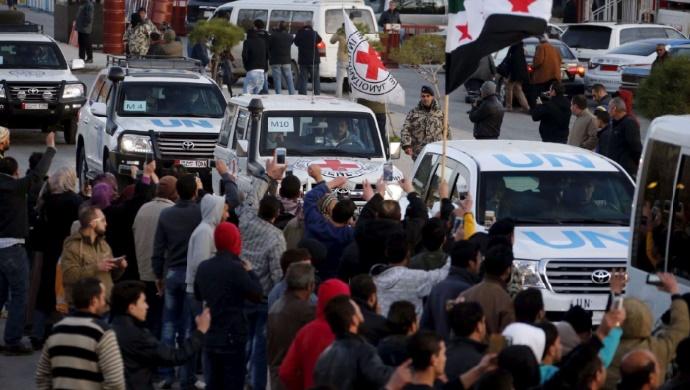 Un nouveau convoi d'aide humanitaire se dirige vers Madaya