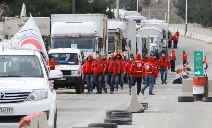Une clinique mobile en route vers Madaya