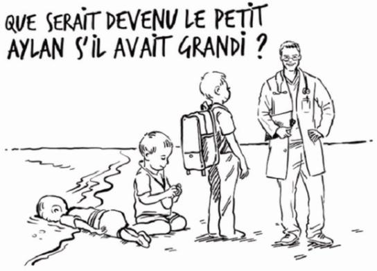 La reine de Jordanie répond au dessin de Charlie Hebdo sur le petit Aylan