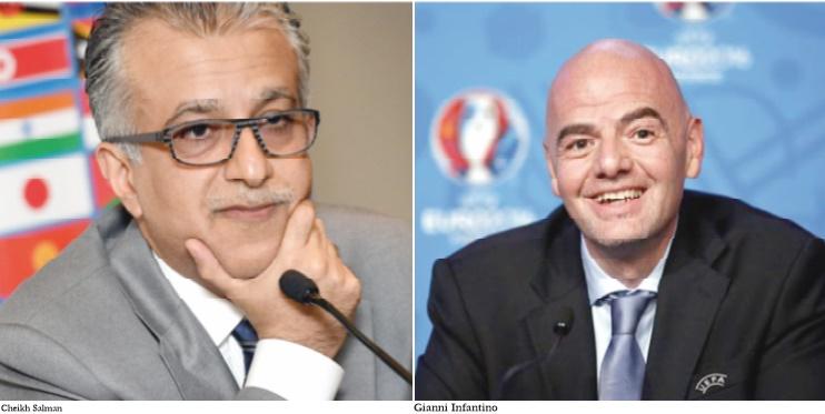 Fifa: Salman prédit un duel avec Infantino