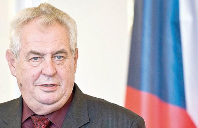 Le président tchèque Milos Zeman