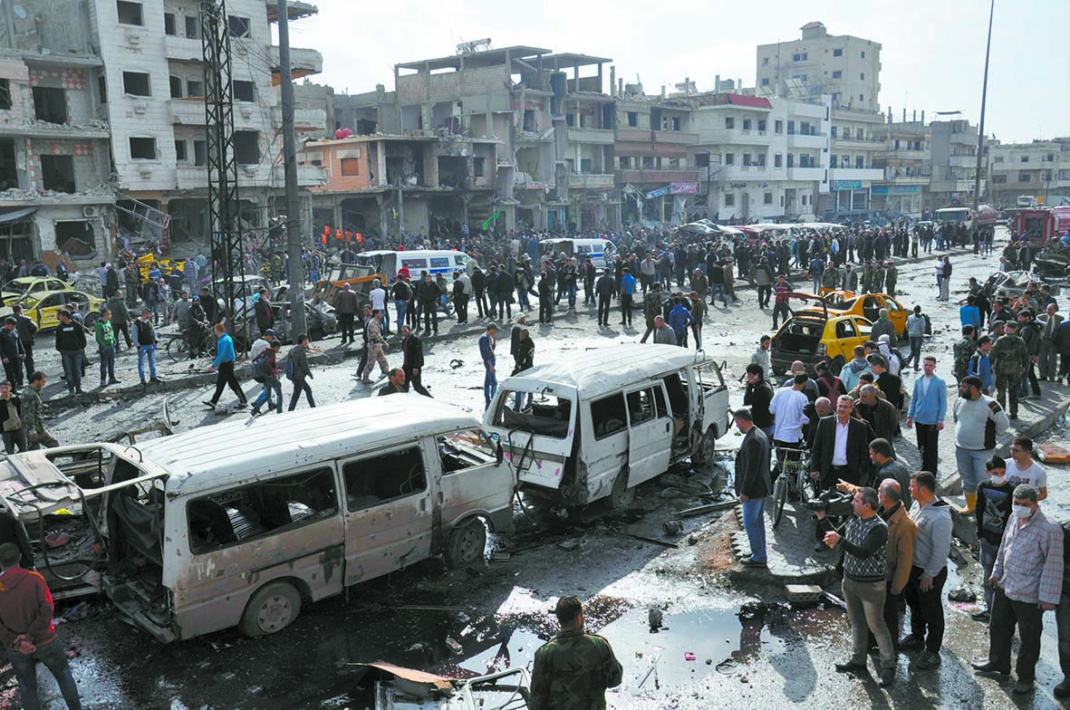 Au moins 46 morts dans  un double attentat à Homs