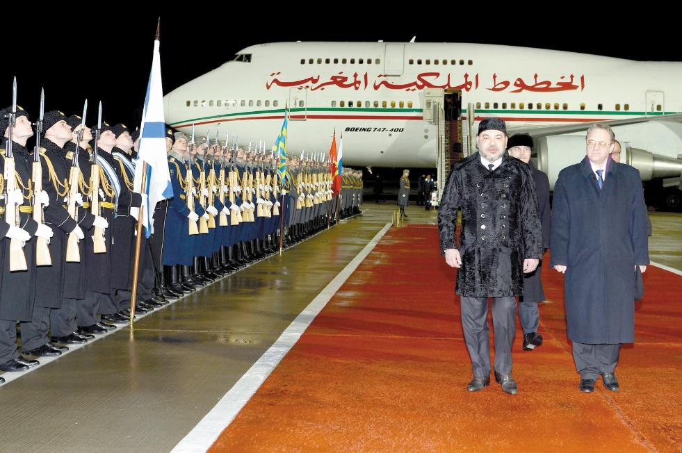 Visite officielle de S.M le Roi en Russie