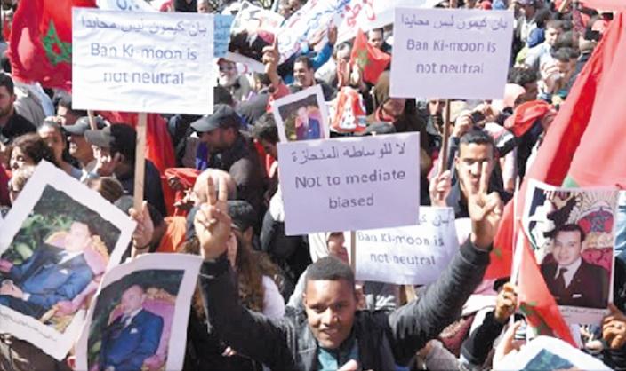 Laâyoune marche contre les propos de Ban Ki-moon
