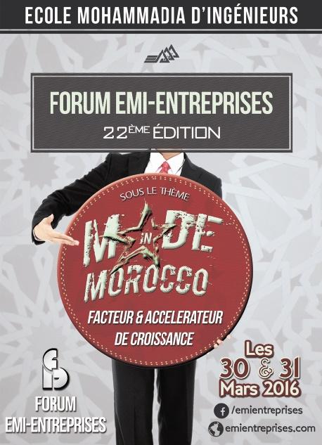 """Le """"Made in Morocco"""" au cœur du 22ème  Forum EMI-Entreprises"""