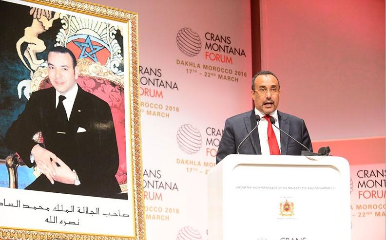Message de S.M le Roi aux participants au Forum Crans-Montana