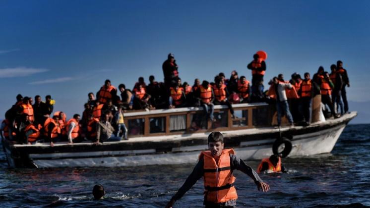 127 migrants interceptés au large de Lesbos en mer Egée