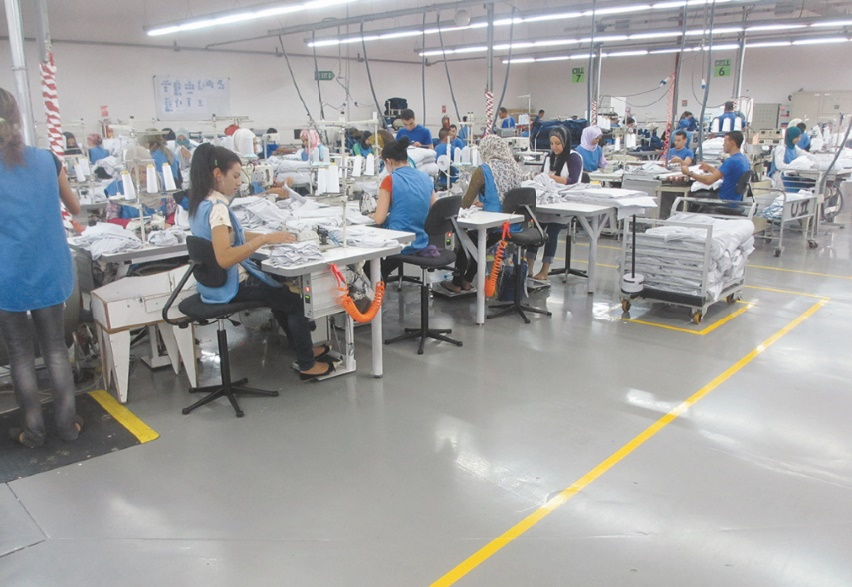 Le poids du secteur du textile dans le tissu économique
