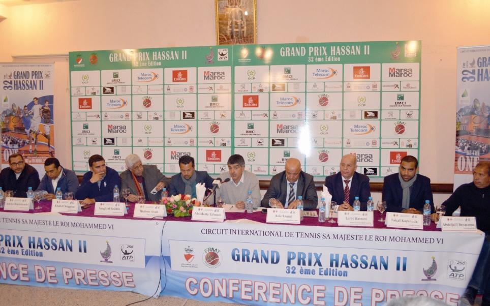 Un tableau relevé pour la 32ème édition du Grand Prix Hassan II de tennis