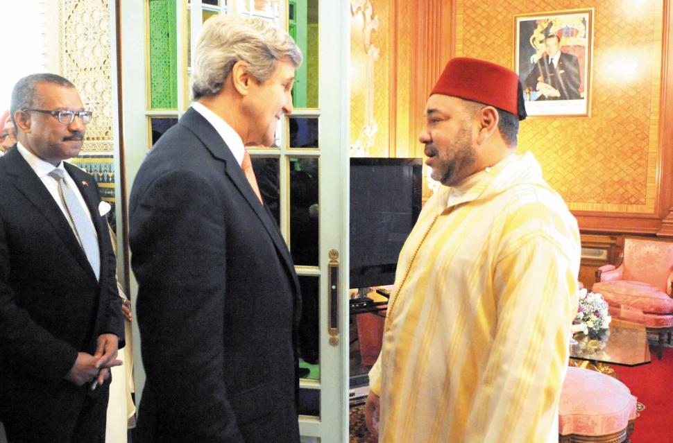 S.M le Roi s'entretient au téléphone avec John Kerry