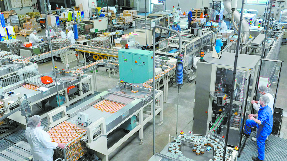 Hausse de la production  industrielle manufacturière
