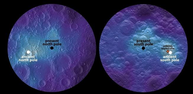 Il y a des milliards d'années, la lune s'est penchée