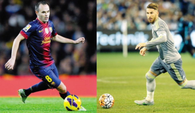 Iniesta et Ramos Capitaines au long cours