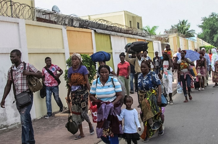 La population fuit massivement le sud de Brazzaville
