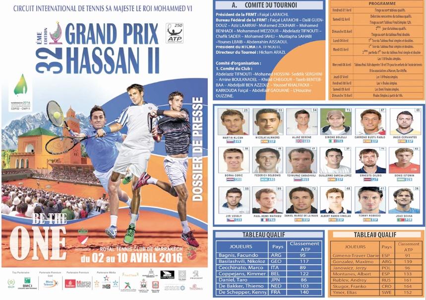 Elimination d'Ahouda au GP Hassan II de tennis