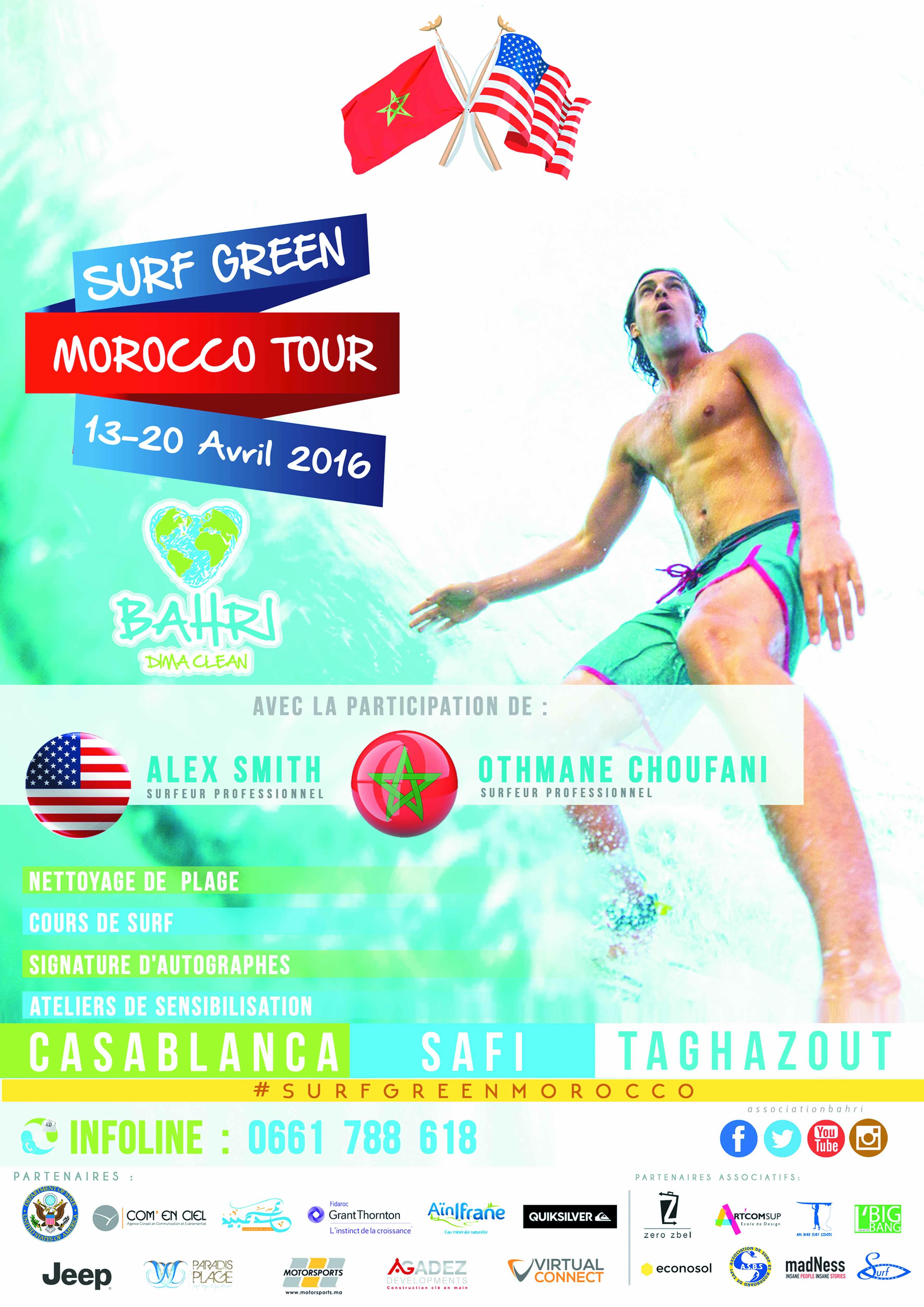 Une semaine de surf et de sensibilisation environnementale à Casablanca, Safi et Taghazout