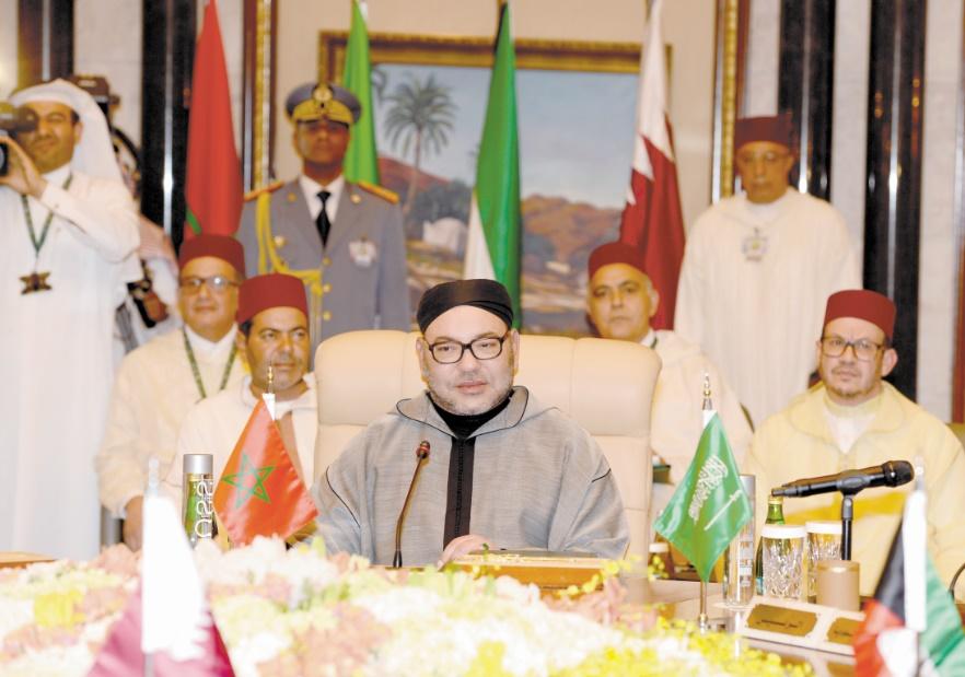 S.M le Roi devant le Sommet Maroc-pays du Golfe