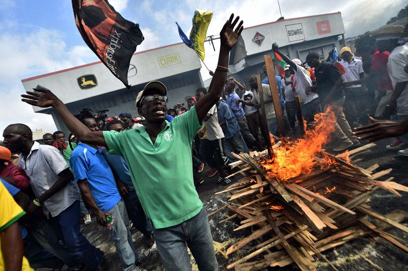 Manifestation d'opposants au pouvoir de transition à Haïti