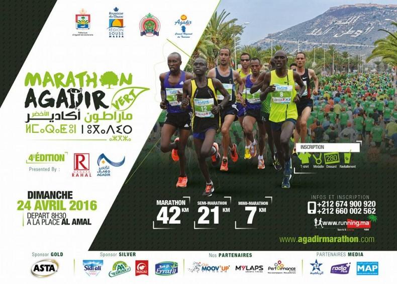Victoire tuniso-éthiopienne au marathon vert d'Agadir